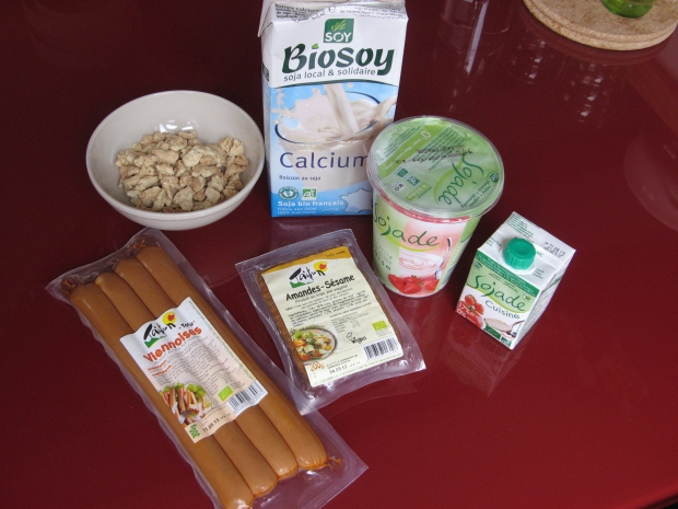 Le soja dans différentes préparations