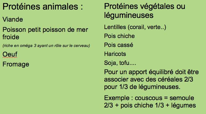 Protéines animales ou végétales