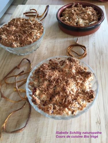 Crumble sans gluten farine de riz et coco