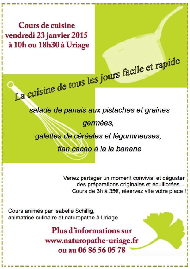 Cours de cuisine Grenoble 2015