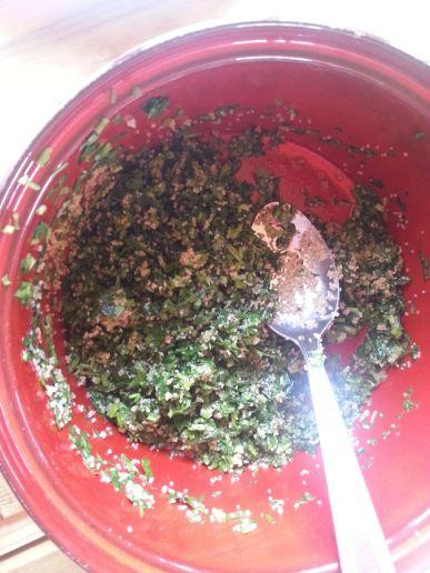 TAboulé persil, ail des ours et fonio