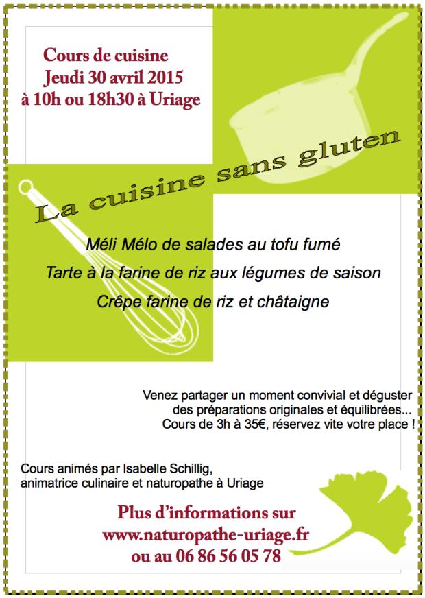 cours de cuisine sans gluten, jeudi 30/04/2015 ? naturopathe ... - Cours De Cuisine Sans Gluten