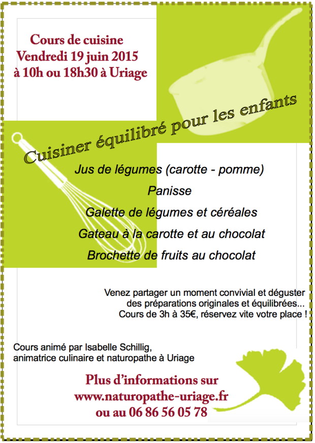 Cours cuisine Uriage 06/2015