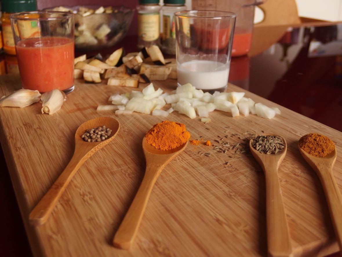 Curry coco aux protéines de soja (végétalien) épices