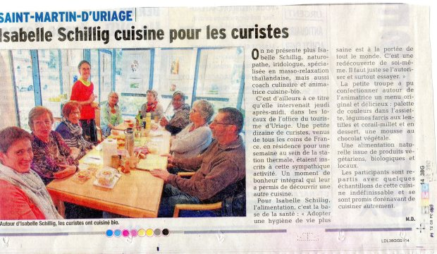 Atelier culinaire Office Tourisme Uriage