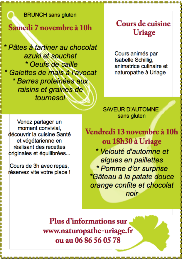 Cours cuisine Uriage-Grenoble 07:11:2015