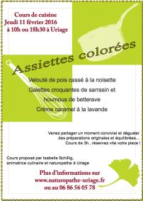 Cours cuisine Uriage Grenoble Bio sans gluten