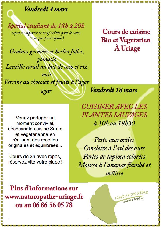Cours de cuisine pour tudiants et avec plantes sauvages - Cours de cuisine pour jeunes ...