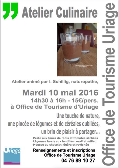 Cours cuisine office Tourisme Uriage