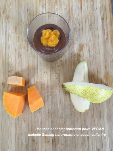 Mousse chocolat butternut vegan