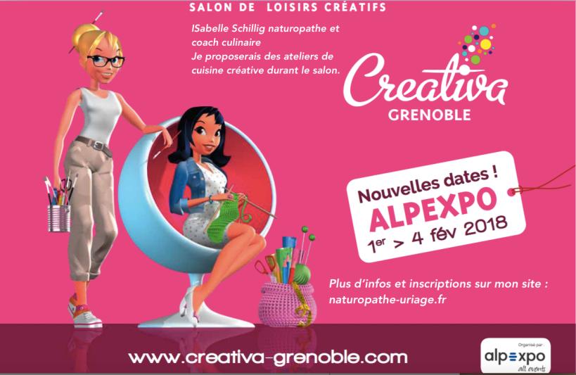 Isabelle Schillig coach culinaire au salon Creativa de Grenoble