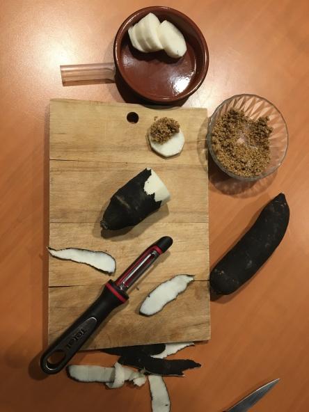 radis noir et gomasio
