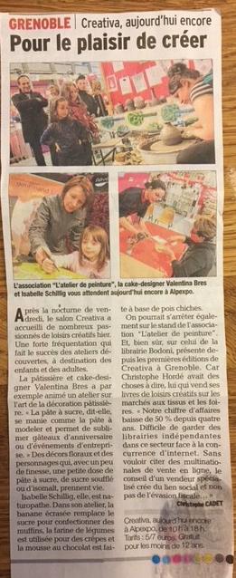 Creativa article dans le Dauphiné, Isabelle Schillig coach culinaire Grenoble