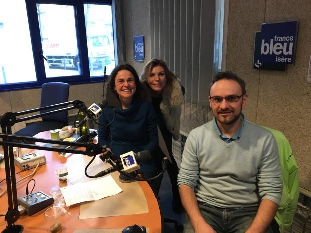France Bleu Isere Erika Vachon, Isabelle Schillig et NIcolas