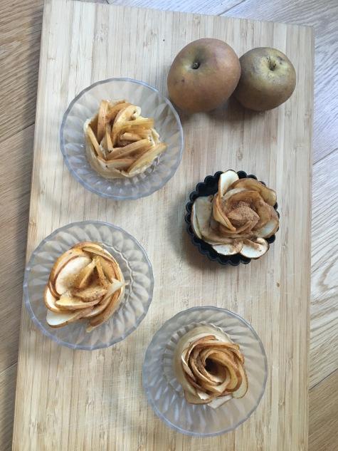 Tartelette aux pommes en fleurs