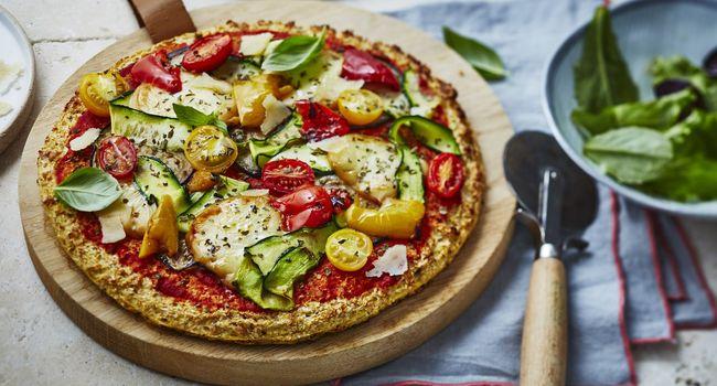 Pizza sans farine aux légumes